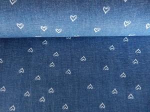 Baumwoll-Stretch-Jeans Herzen dunkelblau