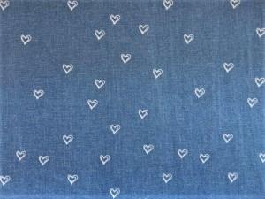 Baumwoll-Stretch-Jean Herzen hellblau