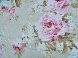 Dekor-Leinen Vintage-Rosen