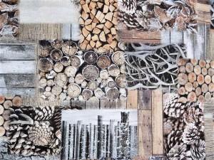 Dekorleinen Holzmotive