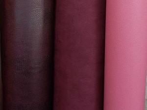 Leder-Imitate weinrot - pink