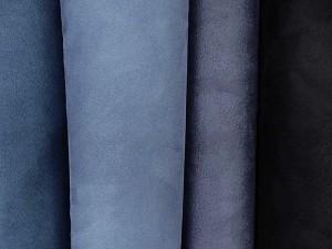 Rauleder-Imitate in Blautönen