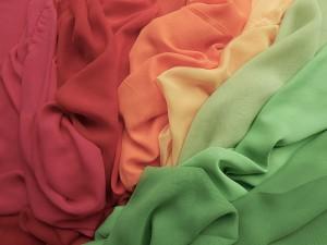 Voile-Stoffe in vielen Farben