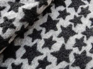 Walkstoff-Stern schwarz grau