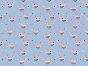 Baumwoll-Jersey crab hellblau
