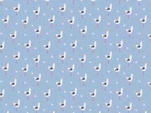 Baumwoll-Jersey seagull hellblau