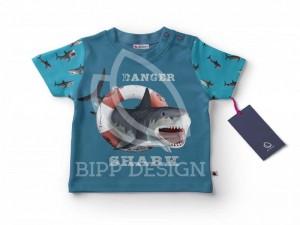 Paneel-Shirt White Shark
