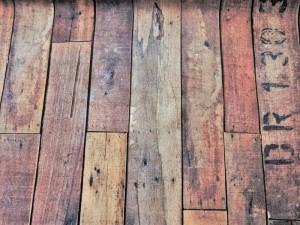 Dekorleinen Holzboden antik