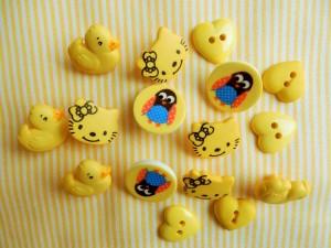 Kinderknöpfe gelb