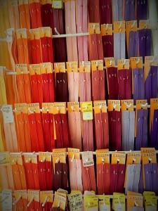 Kleiderzippe verschiedene Farben